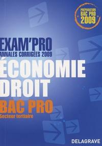 Alexandrine Devaujany et Patrice Barthélémi - Economie Droit Bac Pro Secteur tertiaire - Annales corrigées.