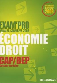 Alexandrine Devaujany et Patrice Barthélémi - Economie Droit CAP/BEP Secteur tertiaire - Annales corrigées.