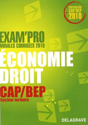 Alexandrine Devaujany et Patrice Barthélémi - Economie-droit CAP-BEP secteur tertiaire.