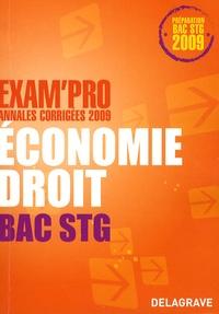 Alexia Certhoux et Rudolf Brennemann - Economie-Droit Bac STG - Annales corrigées.