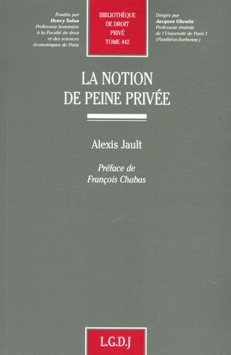 Alexis Jault - La notion de peine privée.