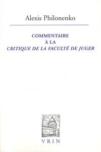 Goodtastepolice.fr Commentaire à la Critique de la faculté de juger Image