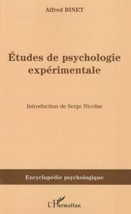 Alfred Binet - Etudes de psychologie expérimentale.