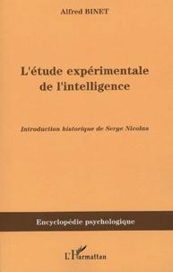 Alfred Binet - L'étude expérimentale de l'intelligence - (1903).