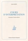 Alfred Cortot - Cours d'interprétation.