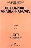 Alfred-Louis de Prémare - Dictionnaire arabe-français Tome 6 - S.