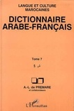 Alfred-Louis de Prémare - Dictionnaire arabe-français Tome 7 - ÏS.
