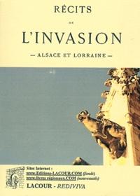 Alfred Mézières - Récits de l'invasion - Alsace et Lorraine.