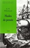 Alfred North Whitehead - Modes de pensée.