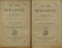 Alfred Stern - La vie de Mirabeau - 2 volumes.