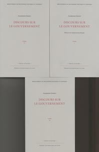 Algernon Sidney - Discours sur le gouvernement - 3 volumes.