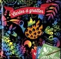 Alice De Page - Cartes à gratter pochoirs - 10 cartes, 4 pochoirs.