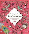 Alice de Page - Set d'invitation - 10 cartes, 10 enveloppes, 1 planche de stickers et 1 feutre pailleté.
