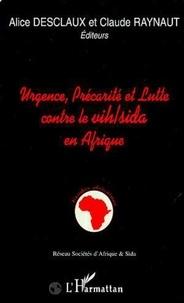 Alice Desclaux et Claude Raynaut - Urgence, précarité et lutte contre le VIH-sida en Afrique - [atelier, Bordeaux, 11-15 septembre 1995].