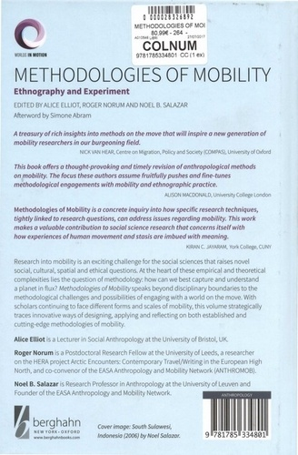 Methodologies of Mobility. Ethnography and Experiment