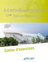 Alice Masounave et Lionel Montmasson - Mathématiques 1re Bac professionnel - Cahier d'exercices.
