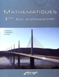 Alice Masounave et Lionel Montmasson - Mathématiques 2de Bac professionnel.
