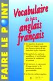 Alice Mossy - Vocabulaire de base anglais-français.