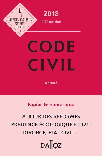 Code civil  Edition 2018