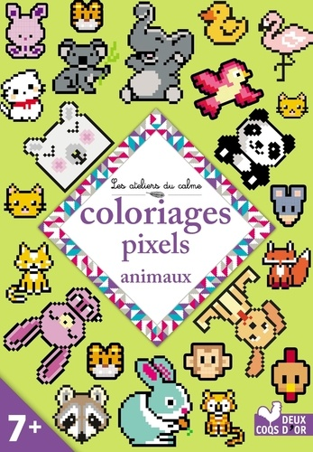 Alice Turquois - Coloriages pixels animaux.