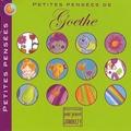 Aline de Pétigny - Petites pensées de Goethe.