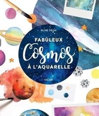 Aline Deon - Cosmos à l'aquarelle.
