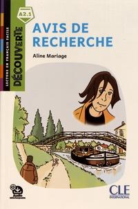 Aline Mariage - Avis de recherche.