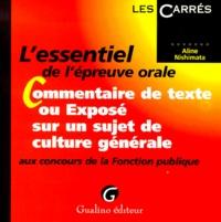 Meilleur livre audio télécharger iphone L'essentiel du commentaire de texte ou exposé de culture générale aux concours de la Fonction publique en francais
