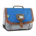 ALISEO TANN'S - Cartable Tann's Iconic gris et bleu - 38cm
