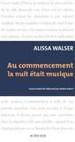 Alissa Walser - Au commencement la nuit était musique.