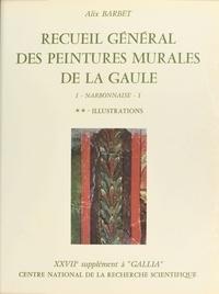 Alix Barbet - Recueil général des peintures murales de la Gaule (1.2) : Province de Narbonnaise, Glanum (Illustrations) - 27e supplément à Gallia.