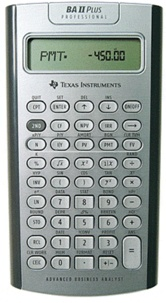 ALKOR - Calculatrice Financière Texas Instrument BA-II Plus Pro