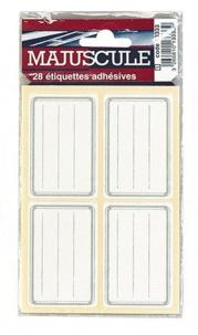 ALKOR - Etiquettes scolaires classiques adhésives 36x56 mm - Paquet de 28 étiquettes