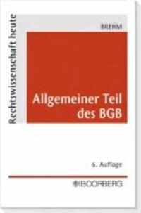 Allgemeiner Teil des BGB.