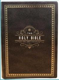 Alliance Biblique Coréenne - Holy Bible King James Version - Brun foncé.