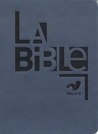 Alliance biblique universelle - La Bible - Reliure semi-rigide, couverture similicuir bleu.