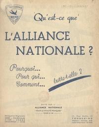 Alliance Nationale pour la Vit - Qu'est-ce que l'alliance nationale ? - Pourquoi, pour qui, comment lutte-t-elle ?.