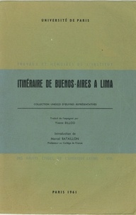 Alonso Carrió de la Vandera - Itinéraire de Buenos-Aires à Lima.