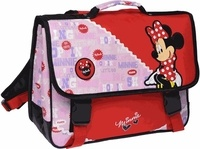 ALPA - Cartable Minnie rose et rouge - 38cm