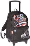 ALPA - Sac à dos à roulettes Avengers Shield noir