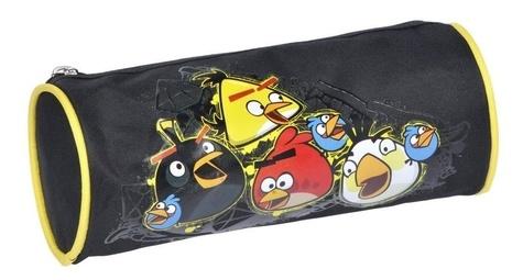 ALPA - Trousse fourre-tout ronde Angry Birds Crash noire