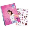 ALPA - Violetta Bloc spirales format A4 60 feuilles stickers