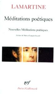 Alphonse de Lamartine - Méditations poétiques. Nouvelles méditations poétiques. (suivies de) Poésies diverses.
