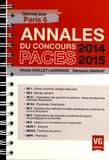 Alyssa Gaillet-Lagrange et Benjamin Barkat - Annales du concours PACES 2014-2015 - Optimisé pour Paris 6.