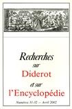 Pierre Chartier - Recherches sur Diderot et sur l'Encyclopédie N° 31-32, Avril 2002 : .