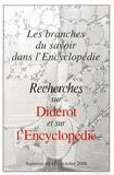 Pierre Chartier - Recherches sur Diderot et sur l'Encyclopédie N° 40-41, Octobre 20 : Les branches du savoir dans l'Encyclopédie.