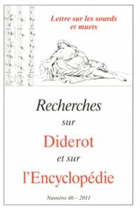 Marie Leca-Tsiomis - Recherches sur Diderot et sur l'Encyclopédie N° 46/2011 : Lettres sur les sourds et muets.