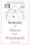 Marie Leca-Tsiomis - Recherches sur Diderot et sur l'Encyclopédie N° 47/2012 : Diderot et les spectacles.