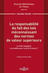 Galabria.be La responsabilité du fait des lois méconnaissant des normes de valeur supérieure - Le droit espagnol, un modèle pour le droit français ? Image