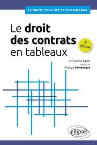 Amandine Cayol - Le droit des contrats en tableaux.